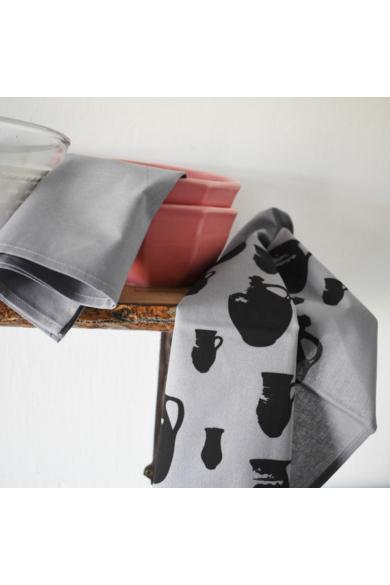 Korsós konyharuha - Sötétszürke, 2 db