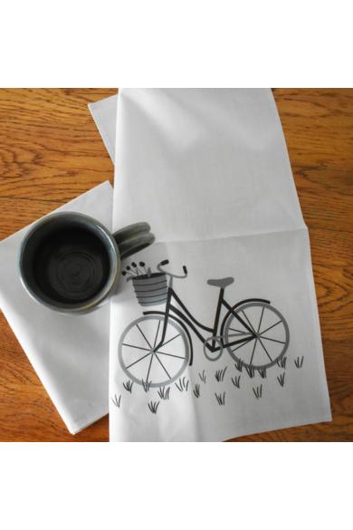 Konyharuha Biciklis - Világosszürke, 2 db