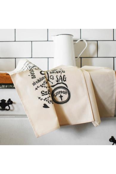 Térképes konyharuha - Bézs, 2 db