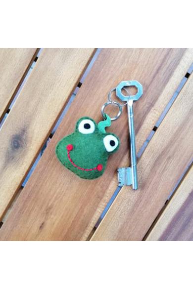 Kulcstartó - Cuki zöld béka2