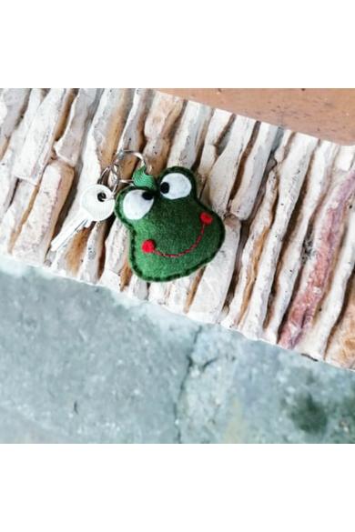 Kulcstartó - Cuki zöld béka1