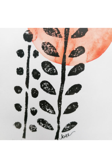 Falikép - Rezgőke piros Nappal