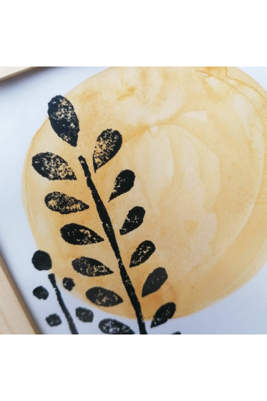 Falikép - Rezgőke sárga Nappal