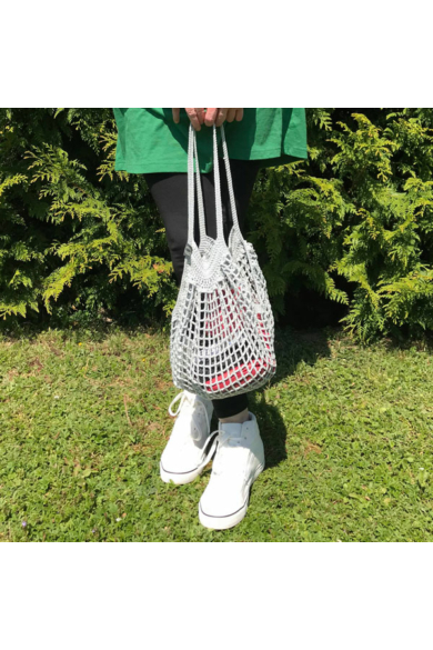 Horgolt táska - Ezüst