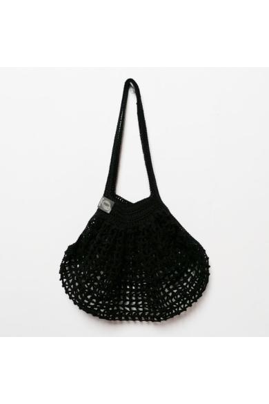 Horgolt táska - Fekete