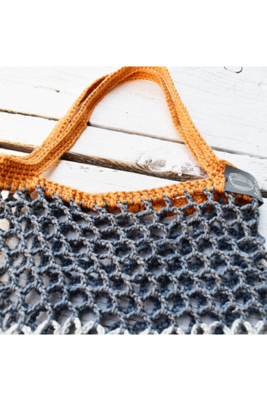 Horgol táska - Tina Rubie-design (01) - Narancssárga füles