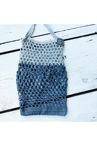 Horgolt táska – Tina Rubie-design (03) – Ezüstszürke