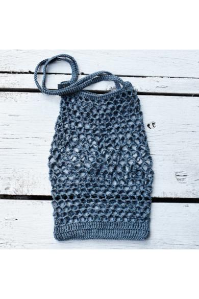 Horgolt táska – Tina Rubie-design (02) – Földszürke