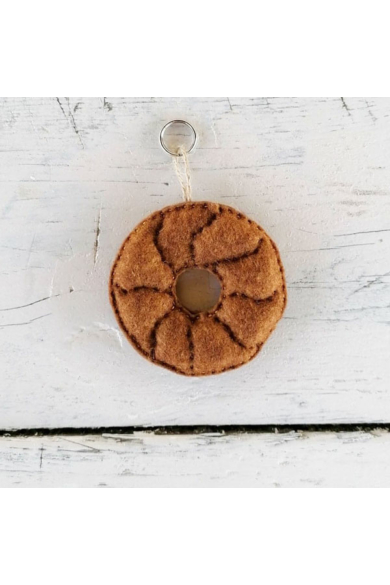 Kulcstartó - Likaskalács, barna