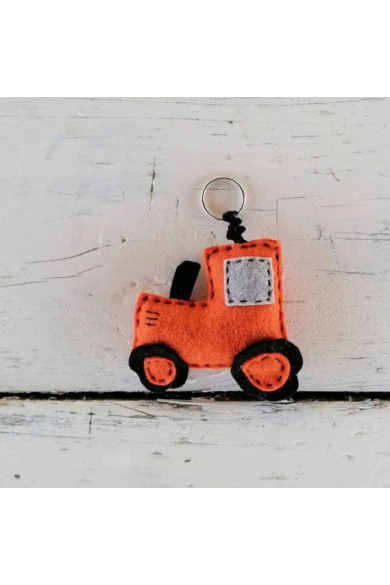 Kulcstartó - Narancssárga traktor