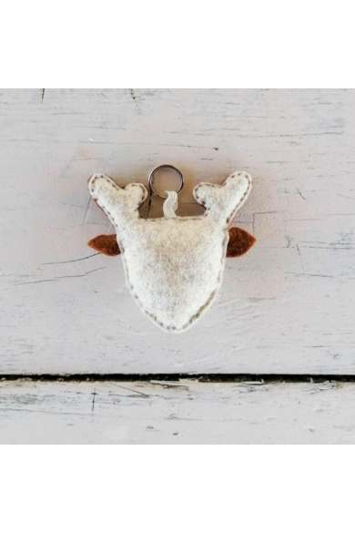 Kulcstartó - Barna szarvas