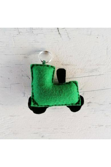 Kulcstartó - Zöld traktor